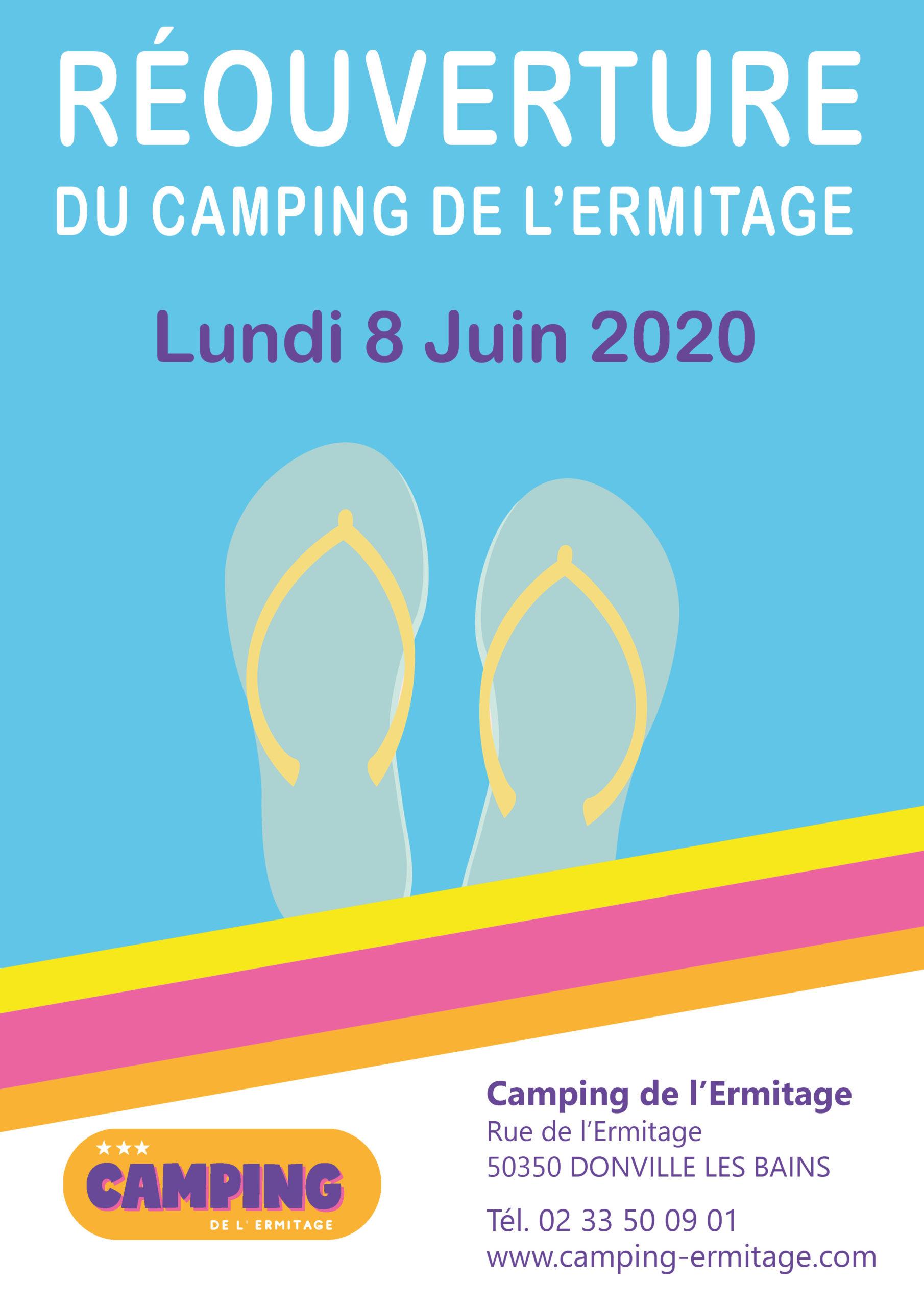 Ouverture complete du camping le 8 juin 2020 !